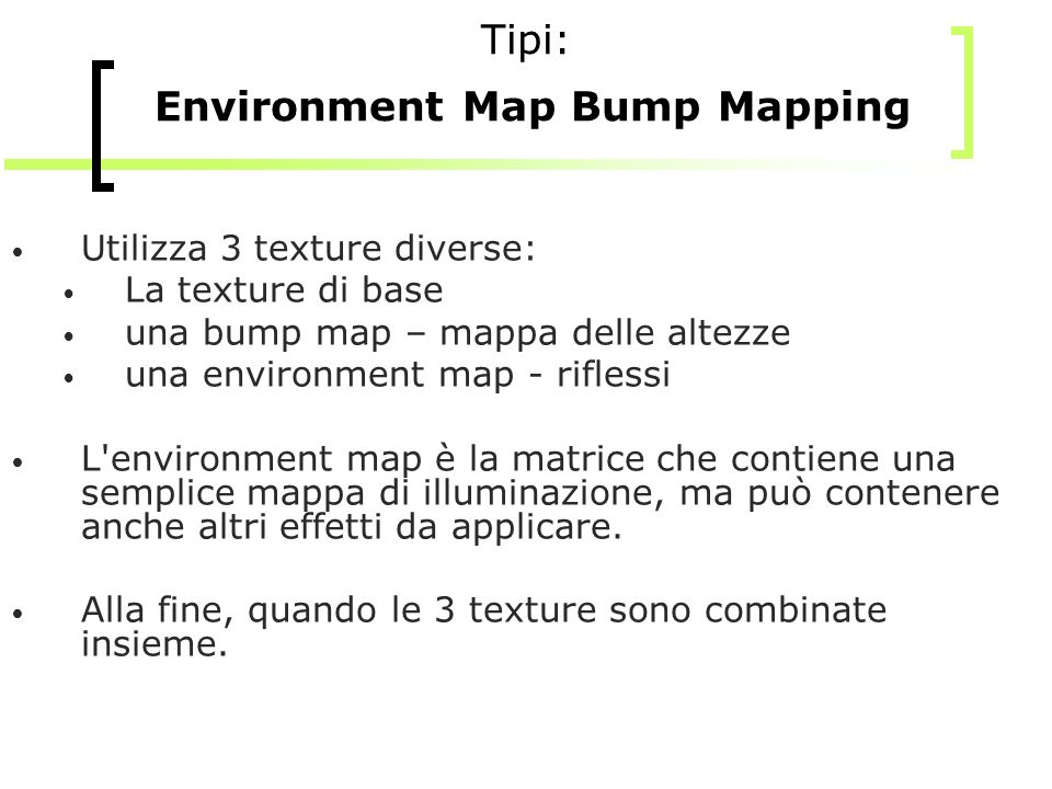Tipi: Environment Map Bump Mapping