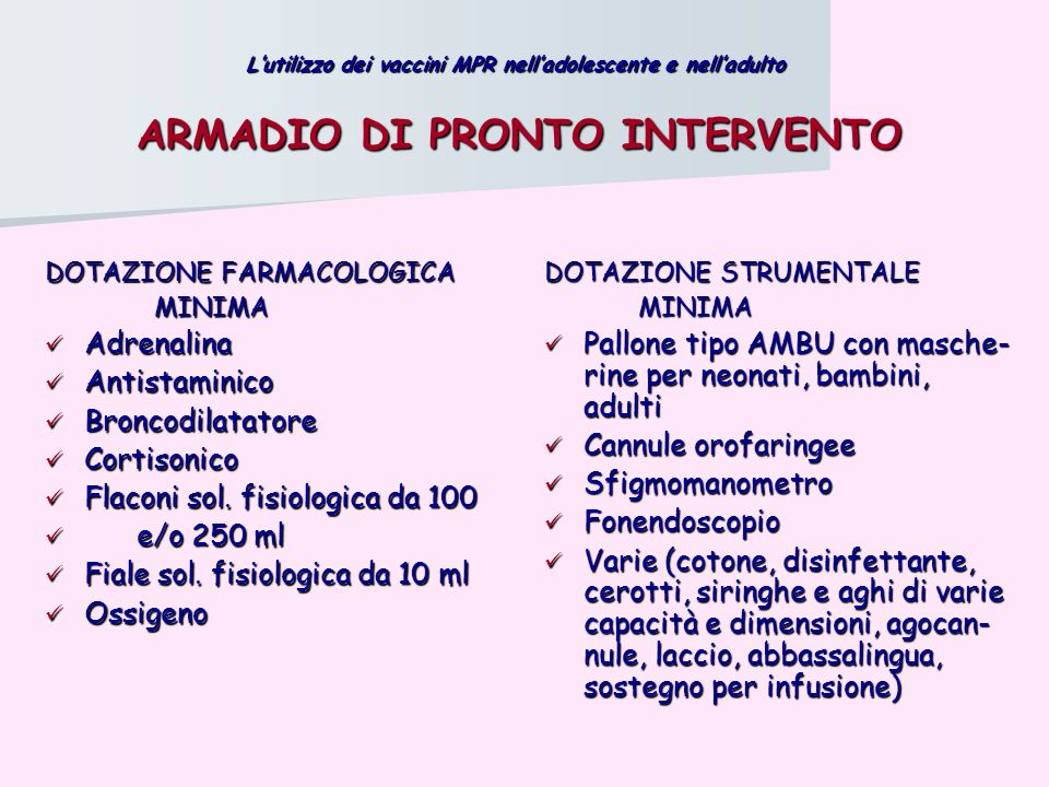 ARMADIO DI PRONTO INTERVENTO