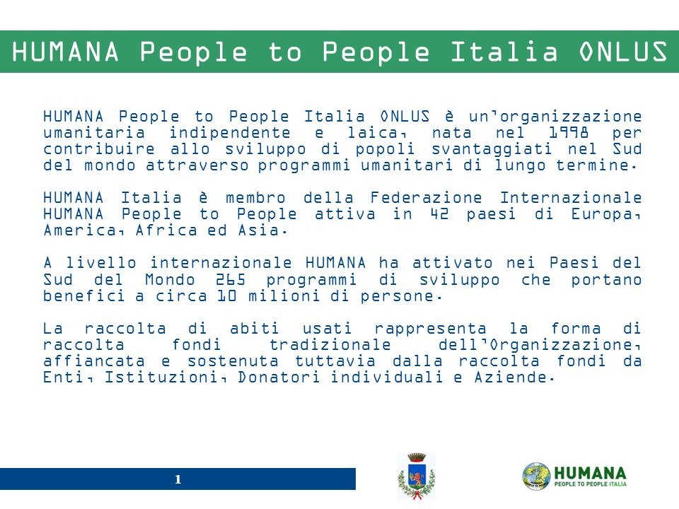 HUMANA People to People Italia ONLUS