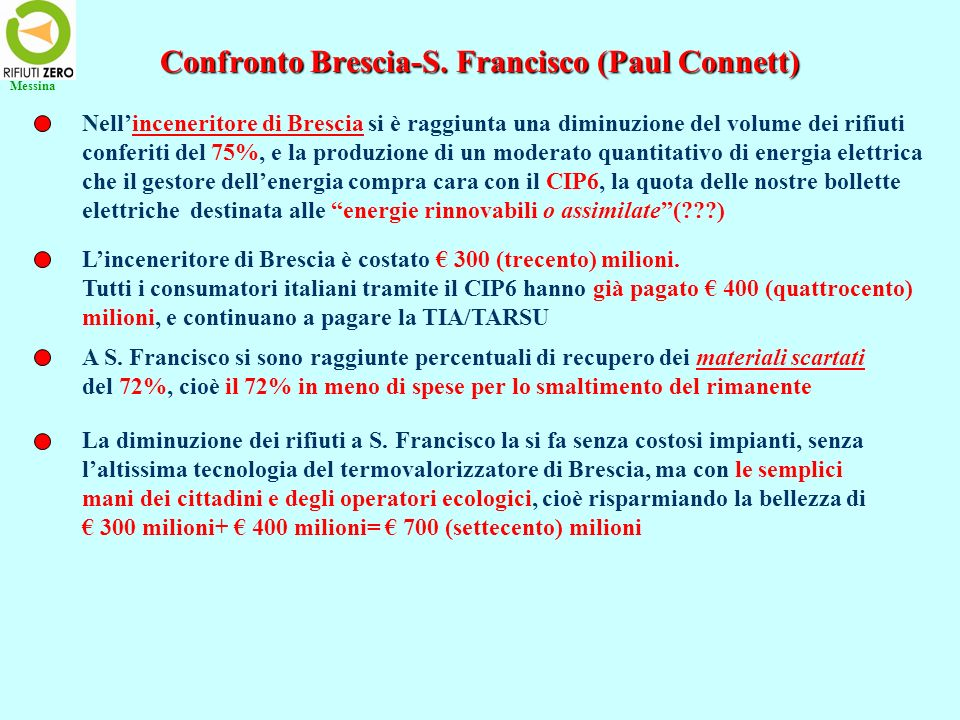 Confronto Brescia-S. Francisco (Paul Connett)