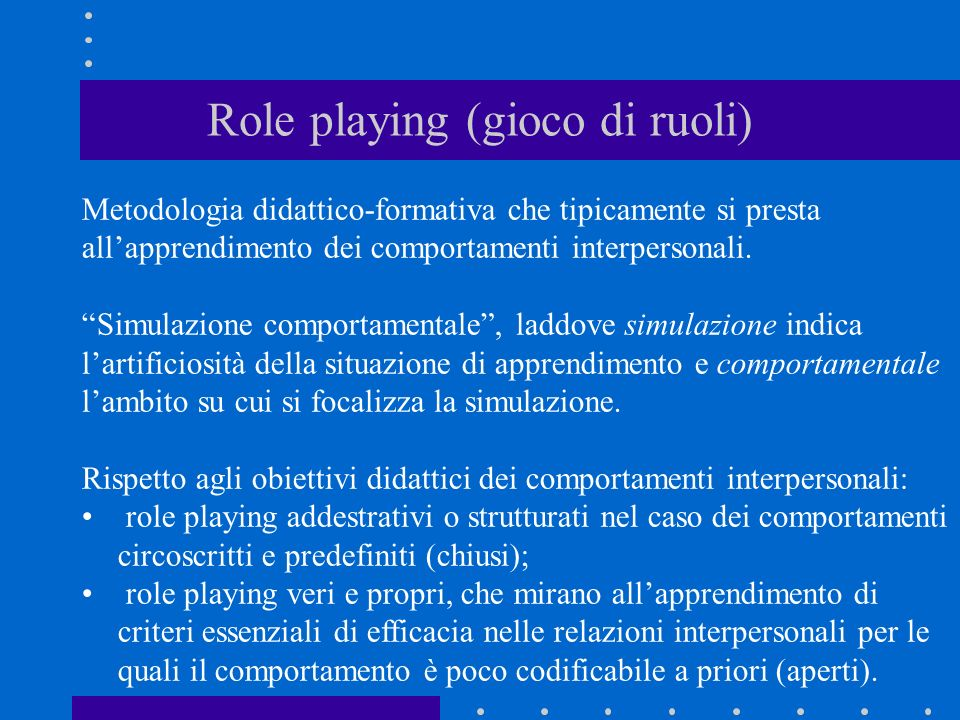 Role playing (gioco di ruoli)
