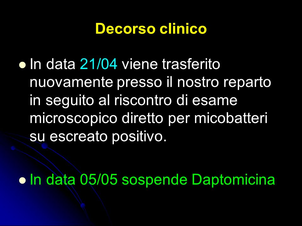 Decorso clinico