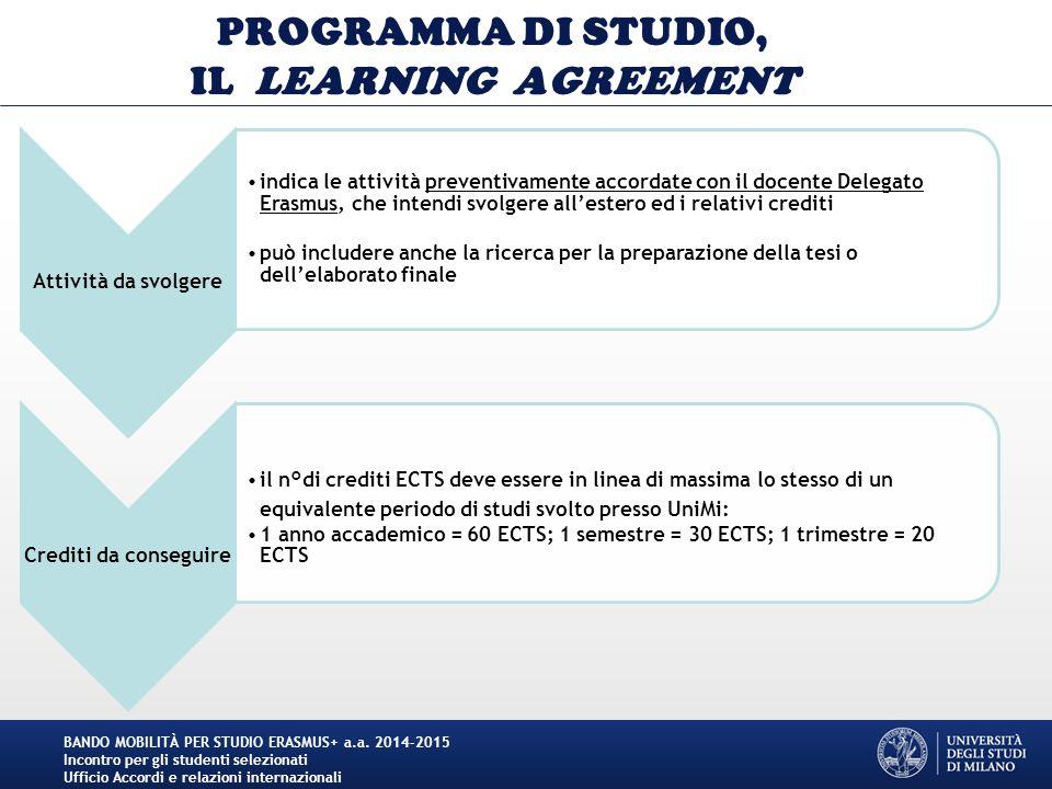 Unimi Calendario Tesi.Bando Mobilita Per Studio Erasmus A A Ppt Scaricare