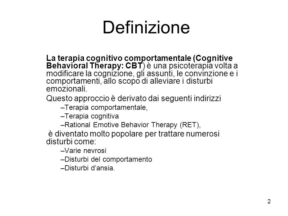 tecnica cognitivo comportamentale