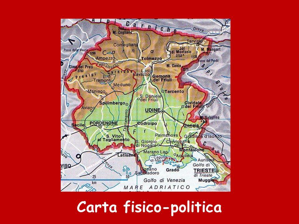 Cartina Fisica Del Friuli Venezia Giulia.Il Friuli Venezia Giulia Ppt Scaricare