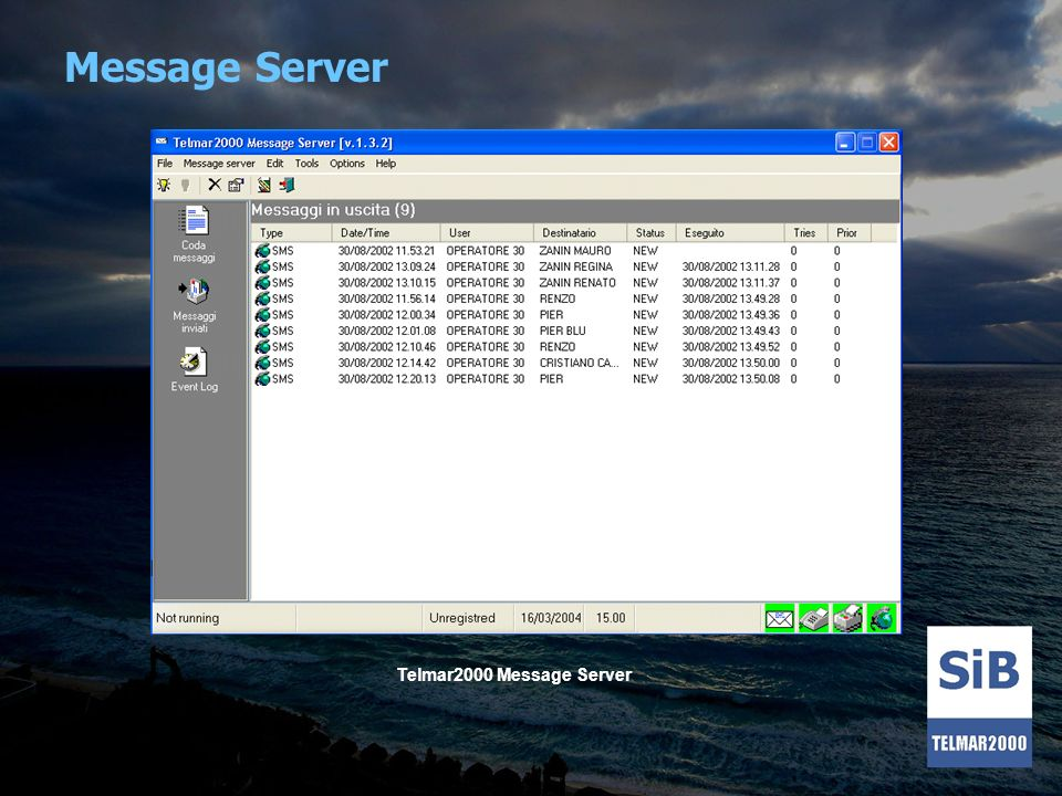Message Server Telmar2000 Message Server