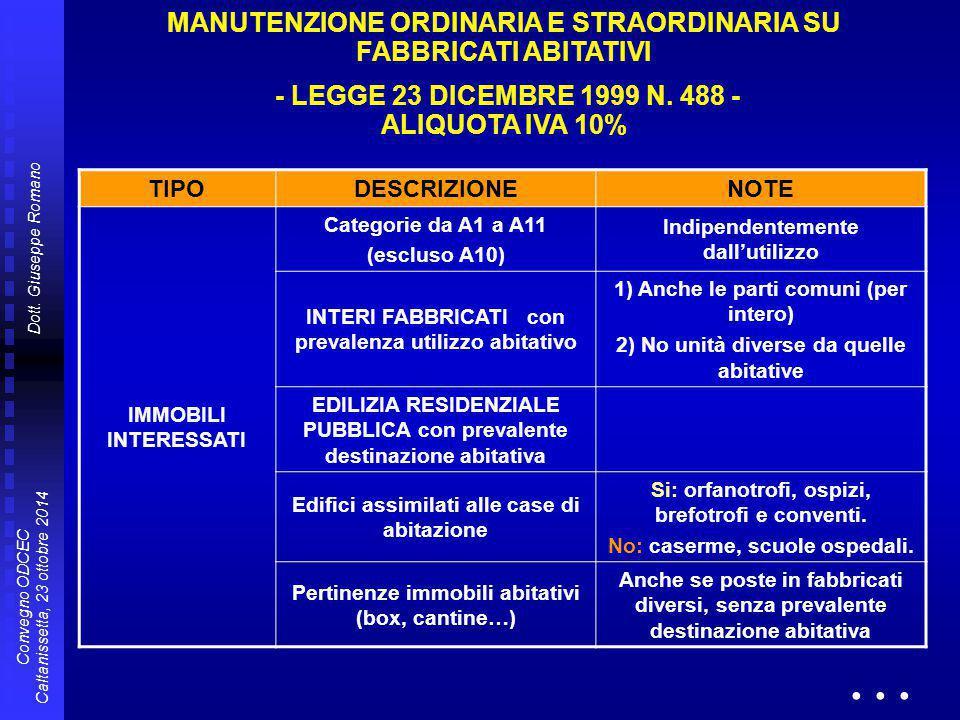 MANUTENZIONE ORDINARIA ...