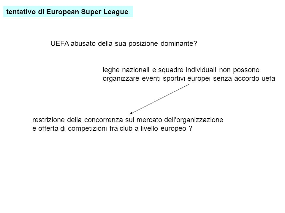 tentativo di European Super League.