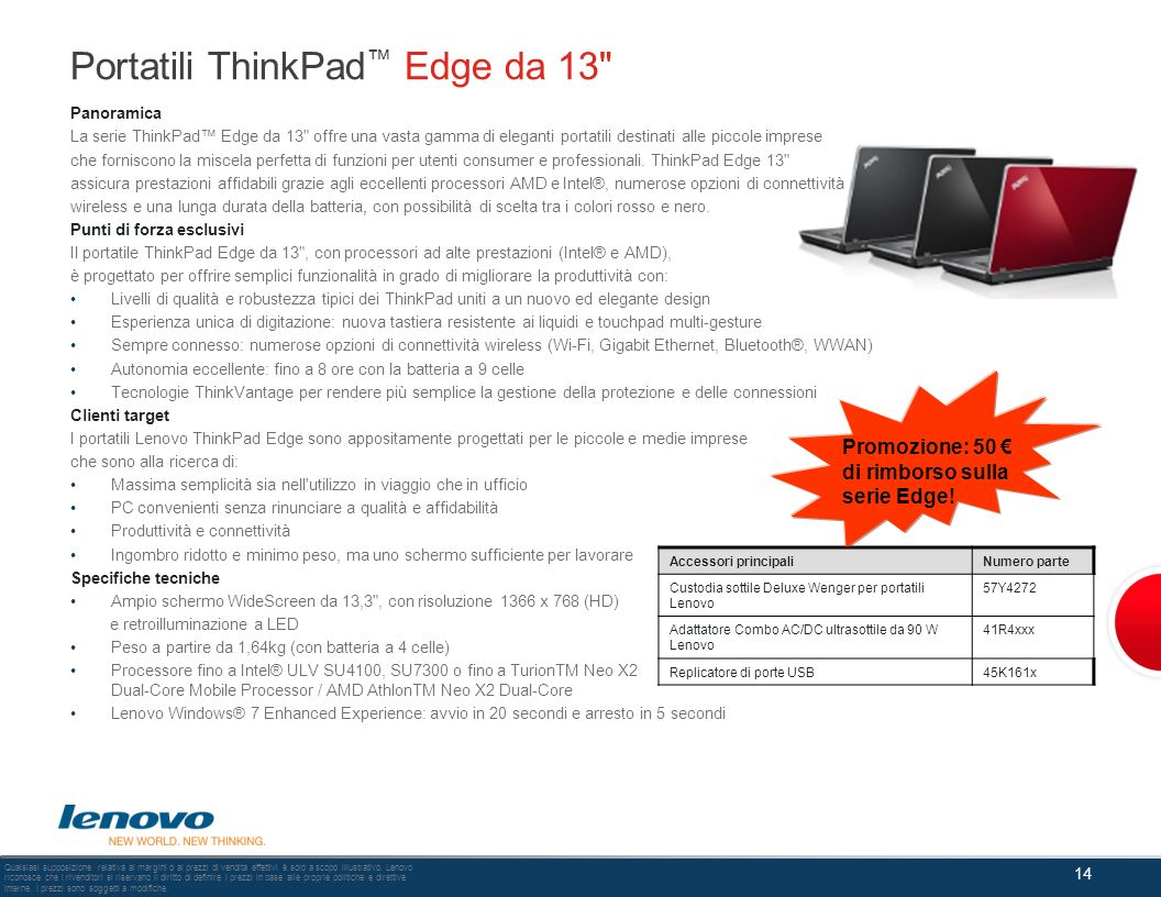 Portatili ThinkPad™ Edge da 13