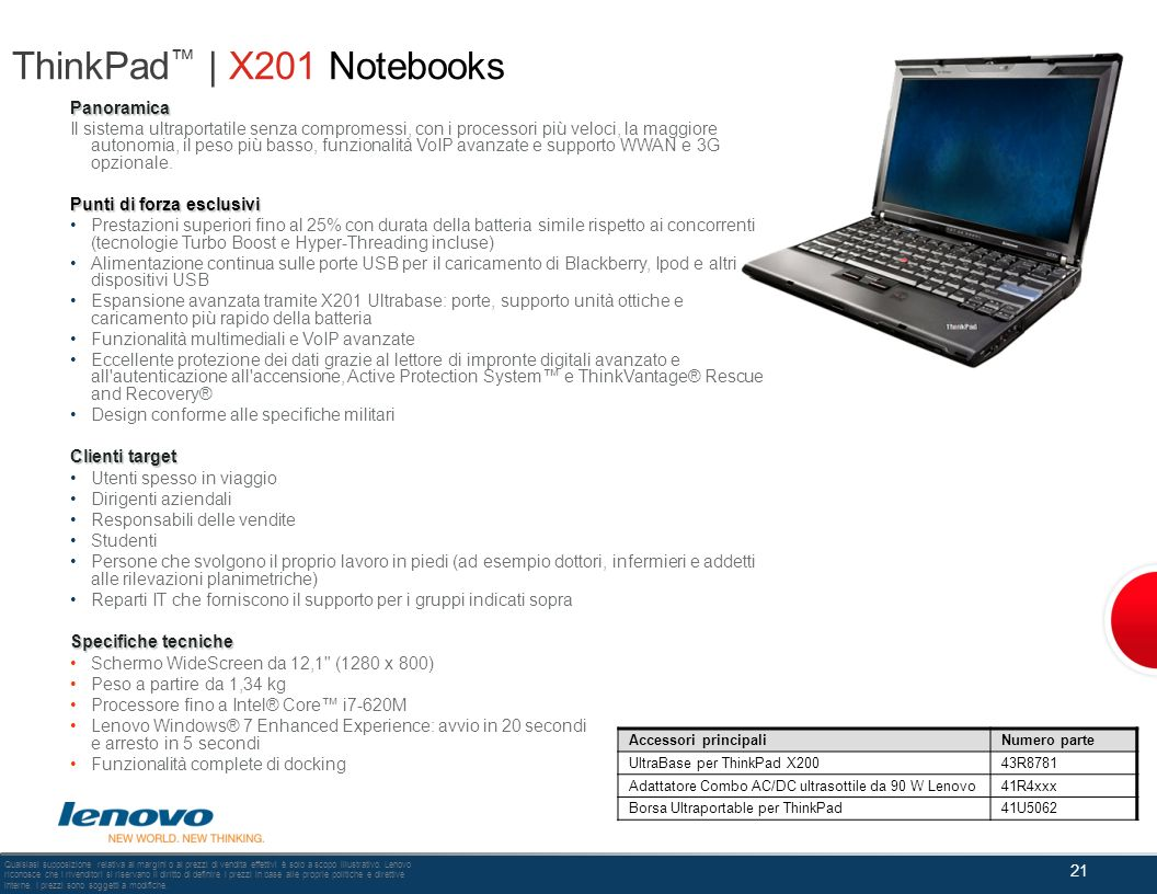 ThinkPad™ | X201 Notebooks