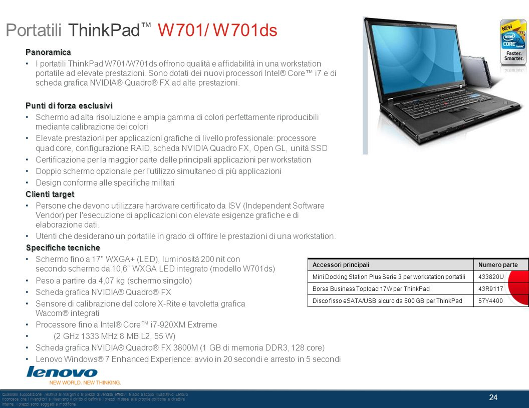 Portatili ThinkPad™ W701/ W701ds
