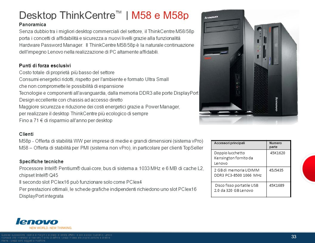 Desktop ThinkCentre™ | M58 e M58p
