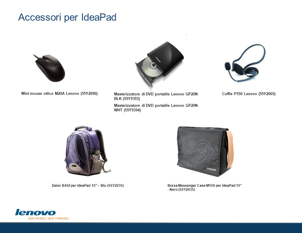 Accessori per IdeaPad 53 Mini mouse ottico M20A Lenovo (55Y2090)