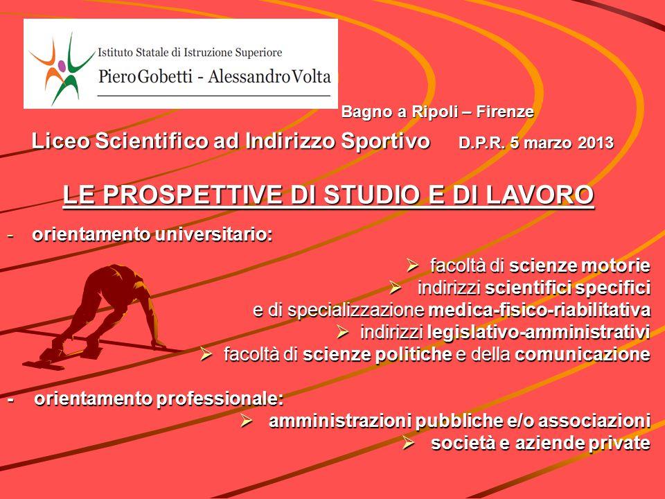 Liceo Scientifico ad Indirizzo Sportivo D.P.R. 5 marzo ppt scaricare
