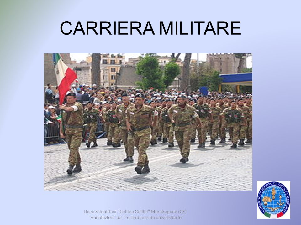 CARRIERA MILITARE Liceo Scientifico Galileo Galilei Mondragone (CE)