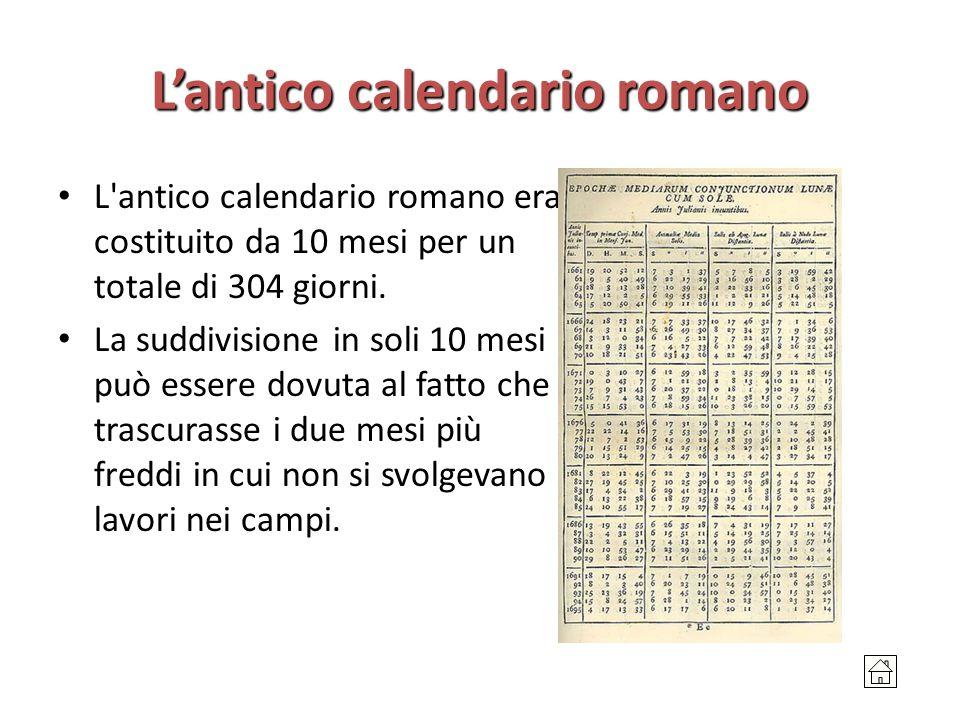 Il Calendario Romano.Il Tempo Nella Storia I Calendari Nel Mondo Latino Ppt