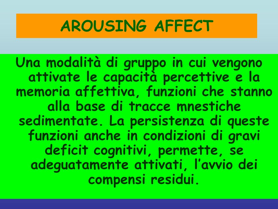 AROUSING AFFECT