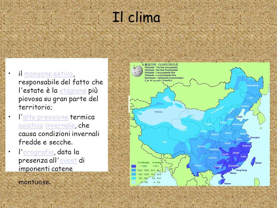 Cartina Climatica Cina.Ricerca Di Geografia La Cina Ppt Scaricare