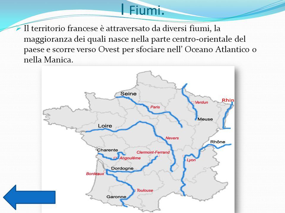 Cartina Francia Con Fiumi.La Francia La Posizione Della Francia Le Catene Montuose I