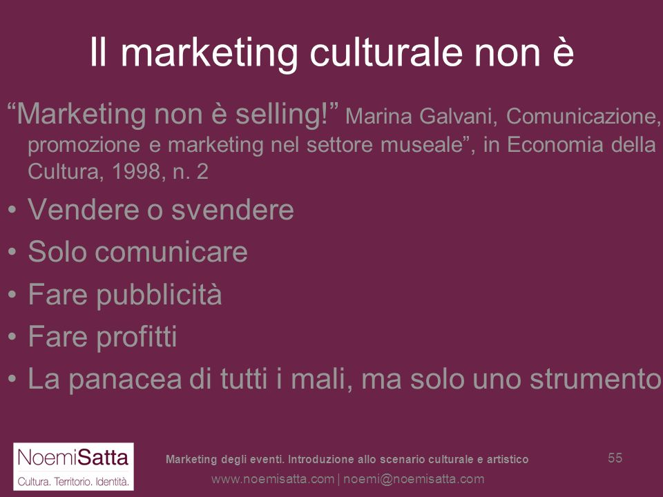 Il marketing culturale non è
