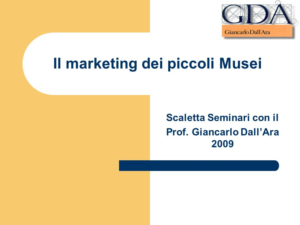 Il marketing dei piccoli Musei