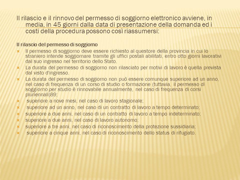 Awesome Costi Permesso Di Soggiorno Pics - Comads897.com ...