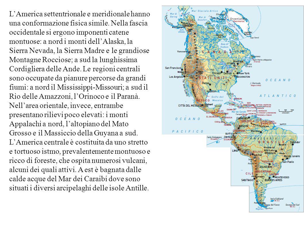 Lamerica Continente Pari Ad Oltre Il 28 Della Terre Emerse Si