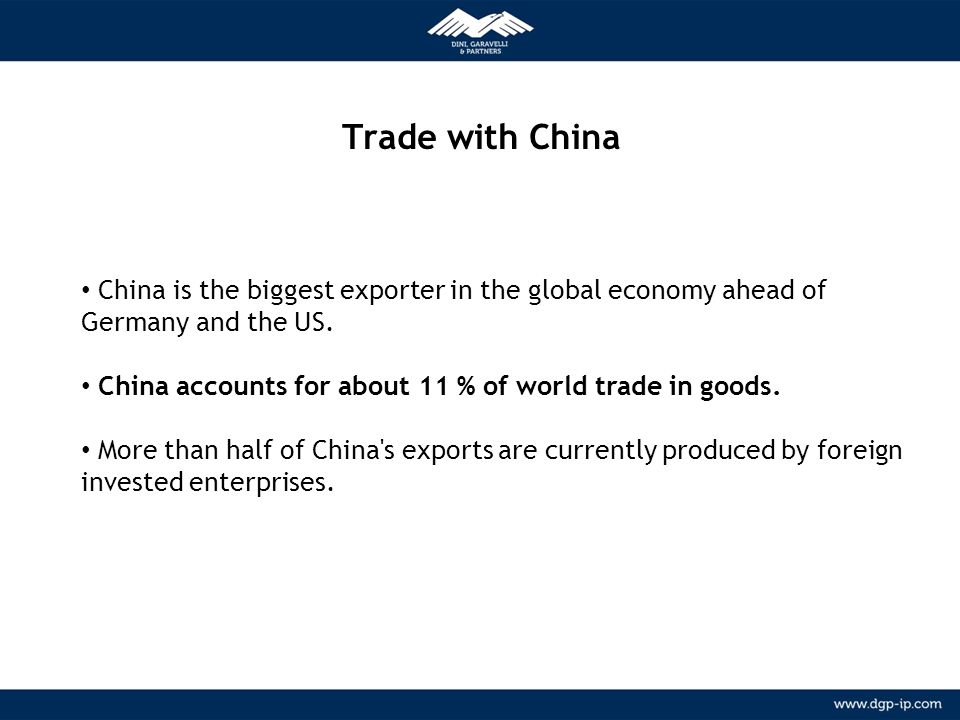 Trade with China METODOLOGIA