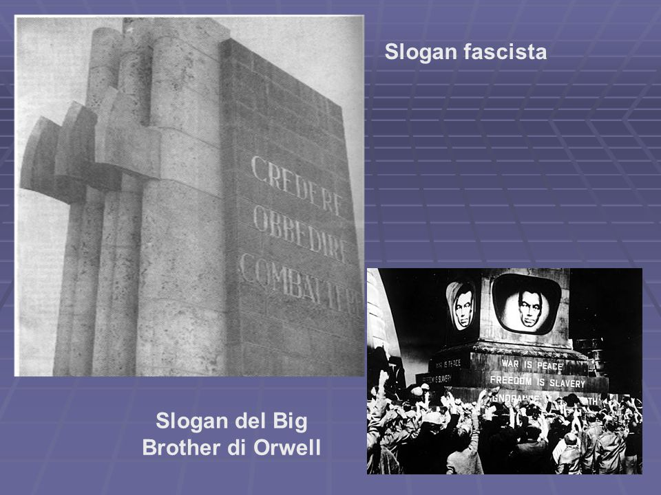 Slogan del Big Brother di Orwell