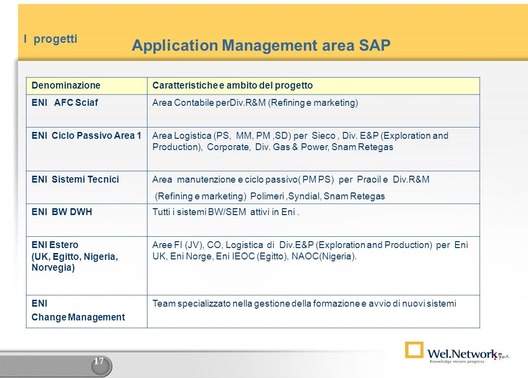Application Management area SAP