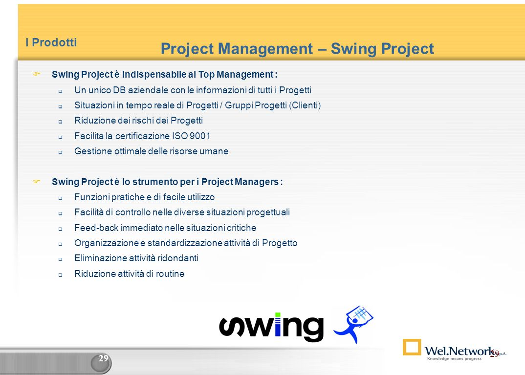 Project Management – Swing Project