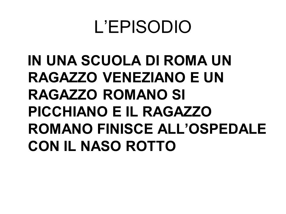 L'EPISODIO
