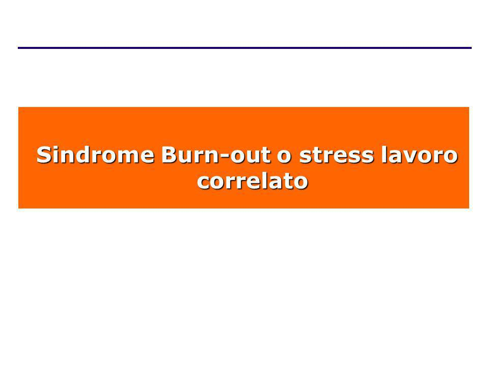 Sindrome Burn-out o stress lavoro correlato