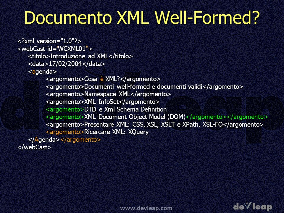 Documento XML Well-Formed