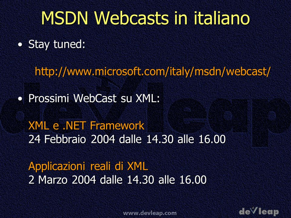 MSDN Webcasts in italiano