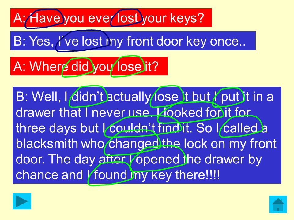 A: Have you ever lost your keys