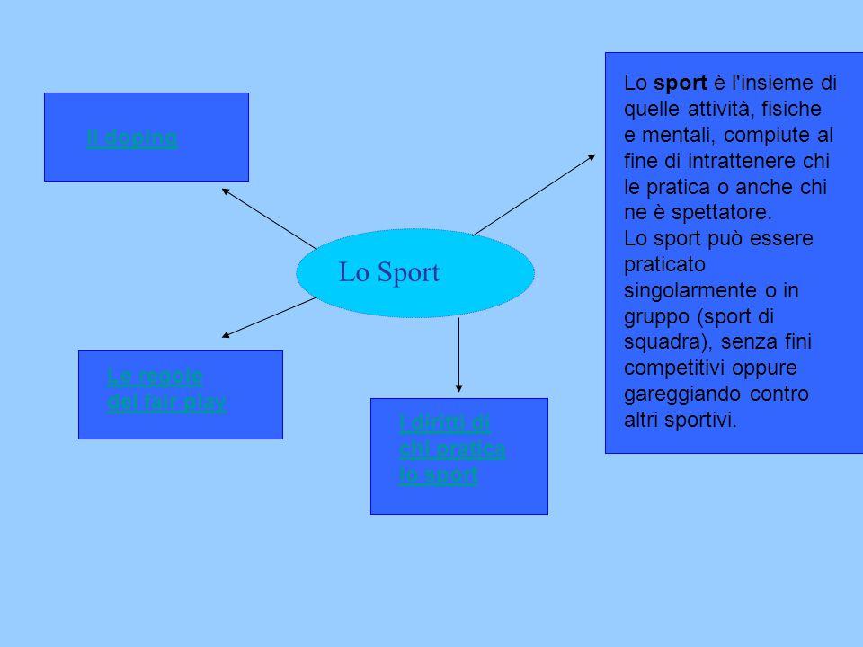 Mappa Concettuale Lo Sport Ppt Video Online Scaricare