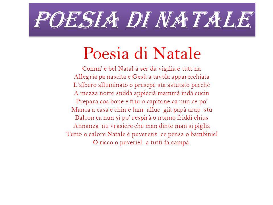 Poesie Di Natale Napoletane Scuola Primaria.Poesie Di Natale In Napoletano Comm E Bell Natal