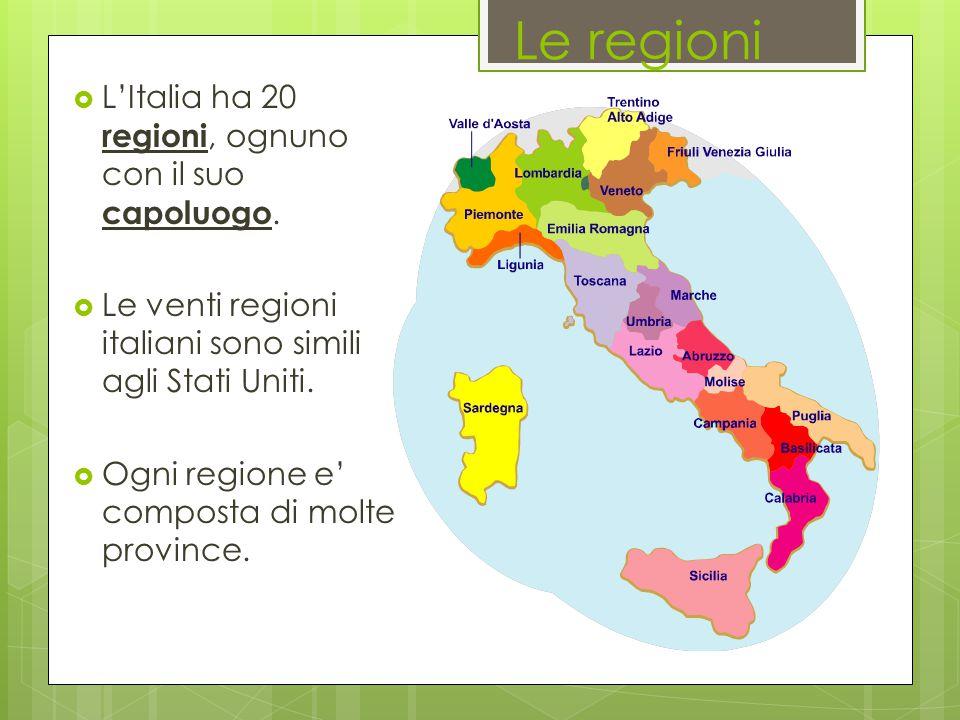 Cartina Politica Italia Con Capoluoghi Di Regione.Geografia Italia Regioni E Province