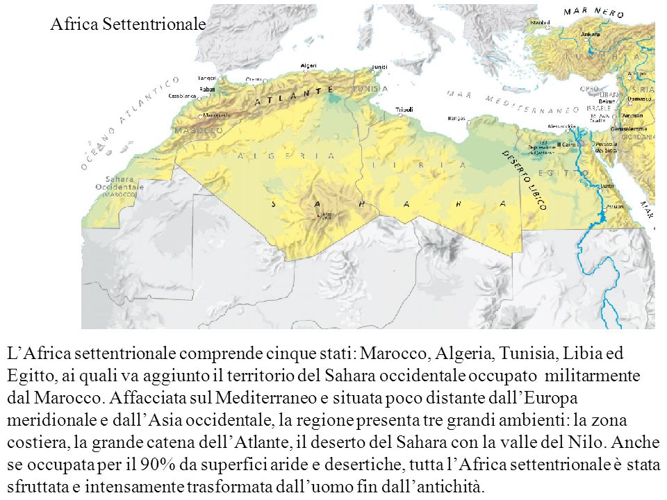 Cartina Africa Del Nord.Africa Settentrionale Ppt Video Online Scaricare