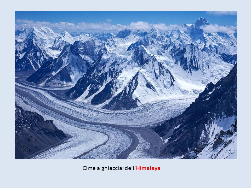 Cime a ghiacciai dell'Himalaya