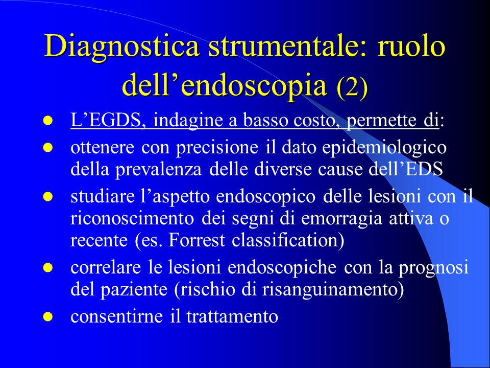 Diagnostica strumentale: ruolo dell'endoscopia (2)