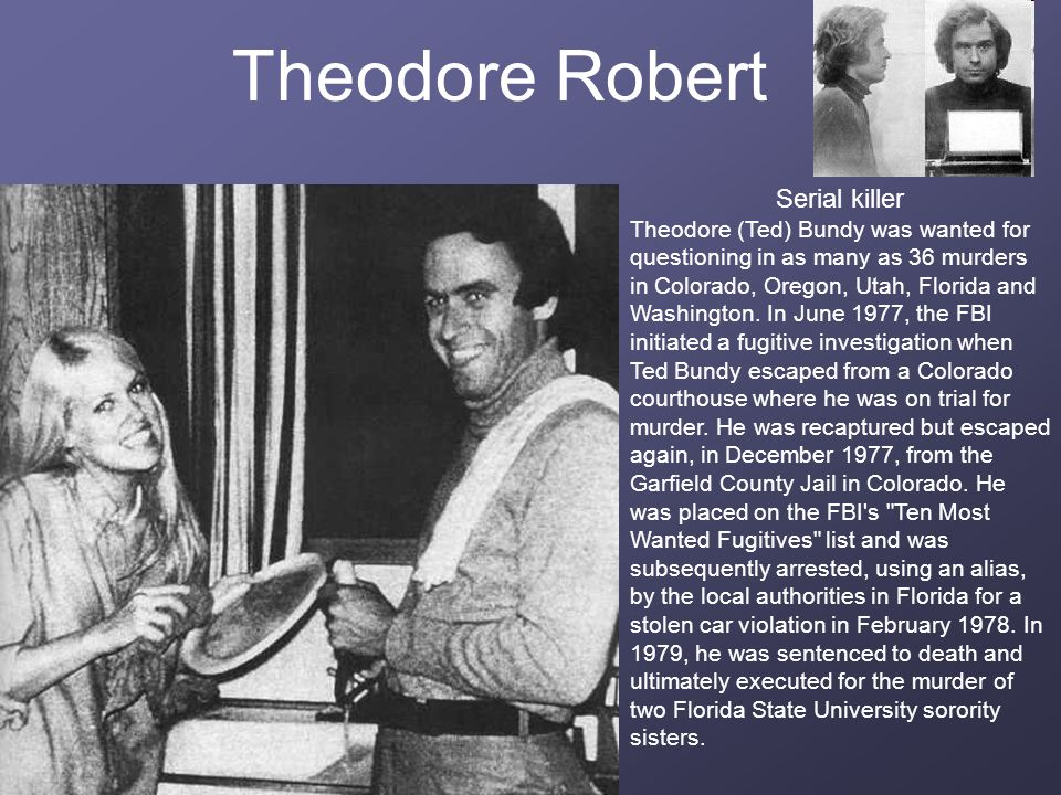 Theodore Robert Serial killer