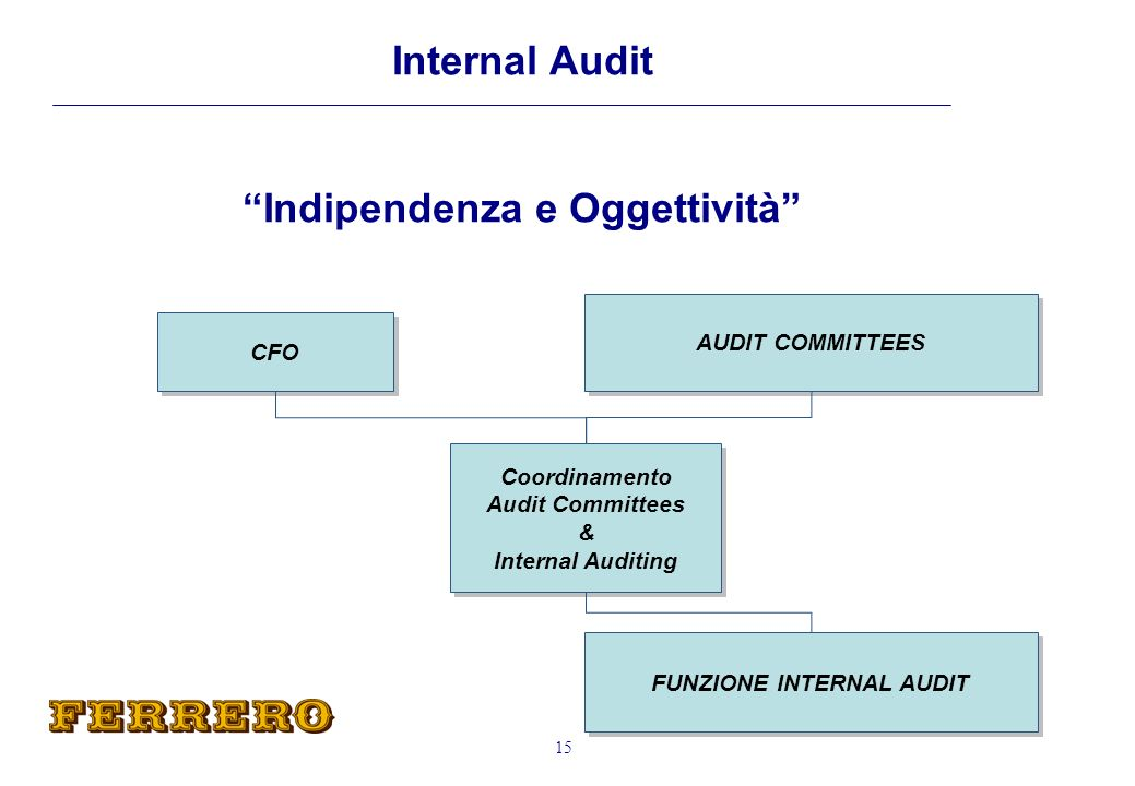 FUNZIONE INTERNAL AUDIT