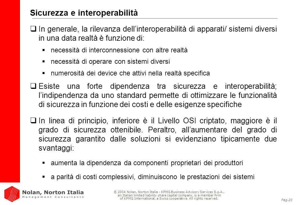 Sicurezza e interoperabilità