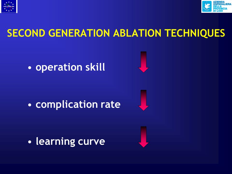 SECOND GENERATION ABLATION TECHNIQUES