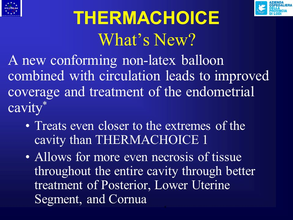 THERMACHOICE What's New