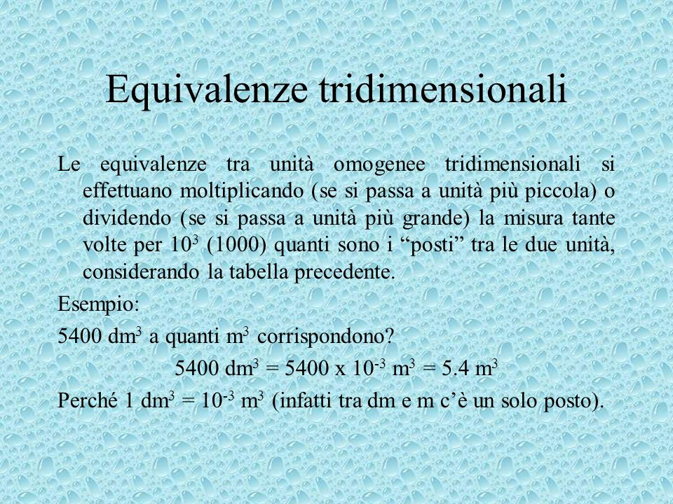 Equivalenze tridimensionali