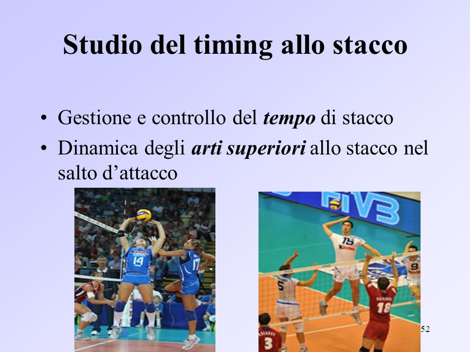Studio del timing allo stacco