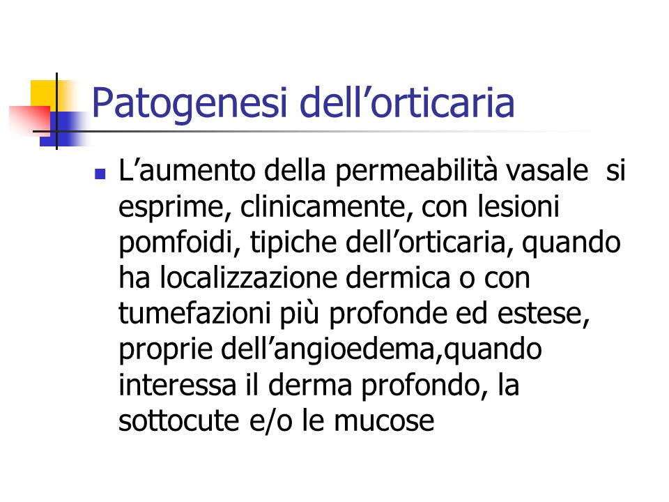 Patogenesi dell'orticaria
